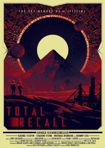 1990's Movie - TOTAL RECALL POSTER ART 2 canvas print - self adhesive poster - photo print